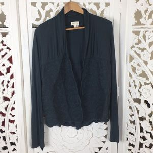 Anthropologie Meadow Rue Embroidered Cardigan
